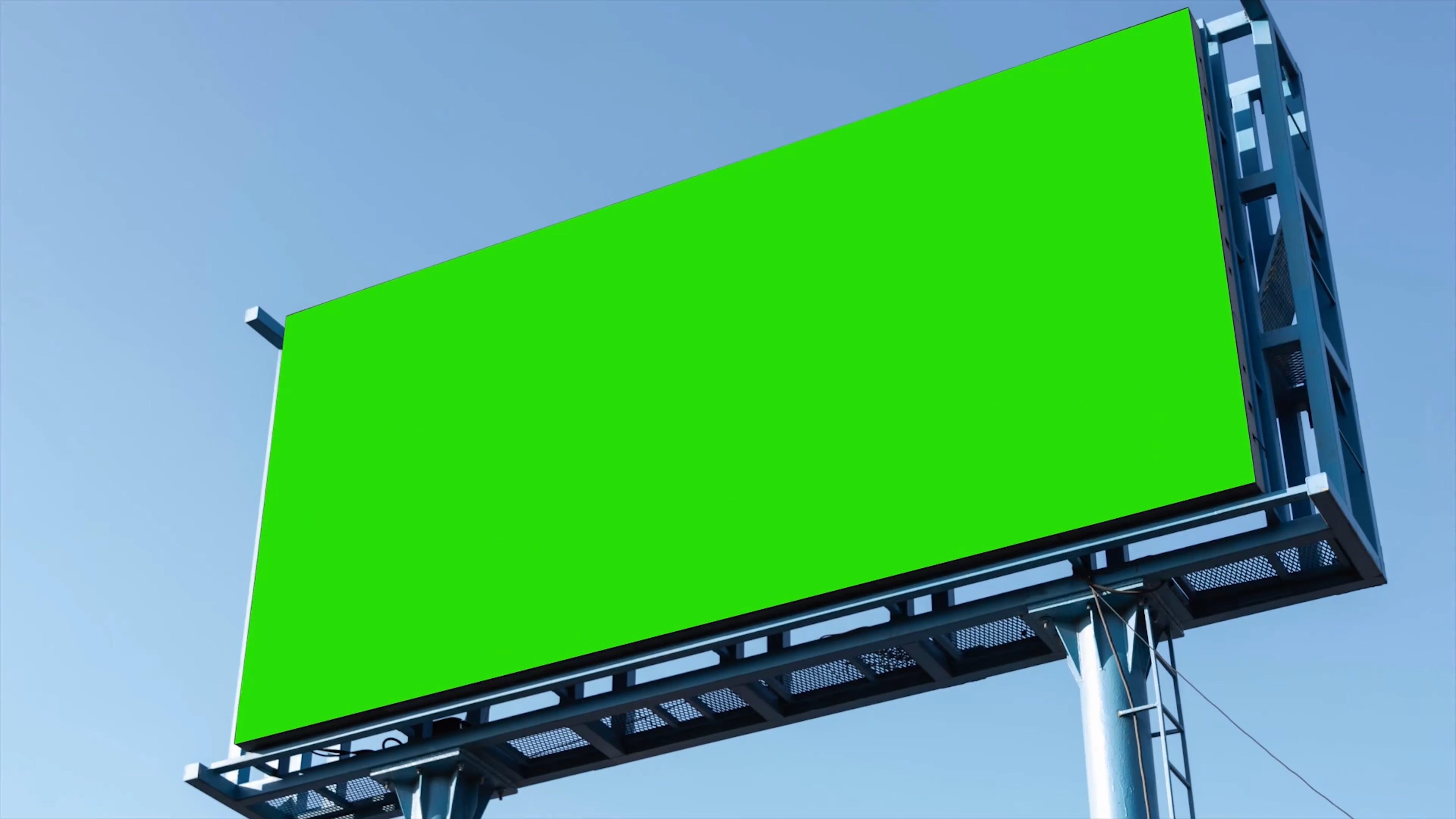 绿屏抠像户外大型广告牌