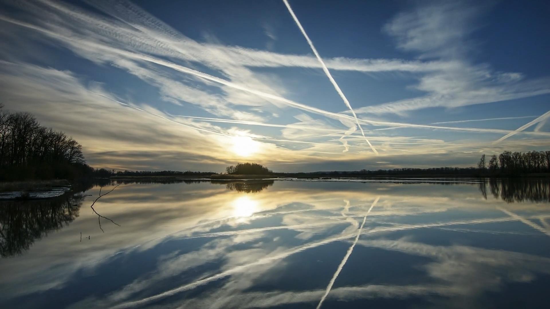 延时摄影湖面风景