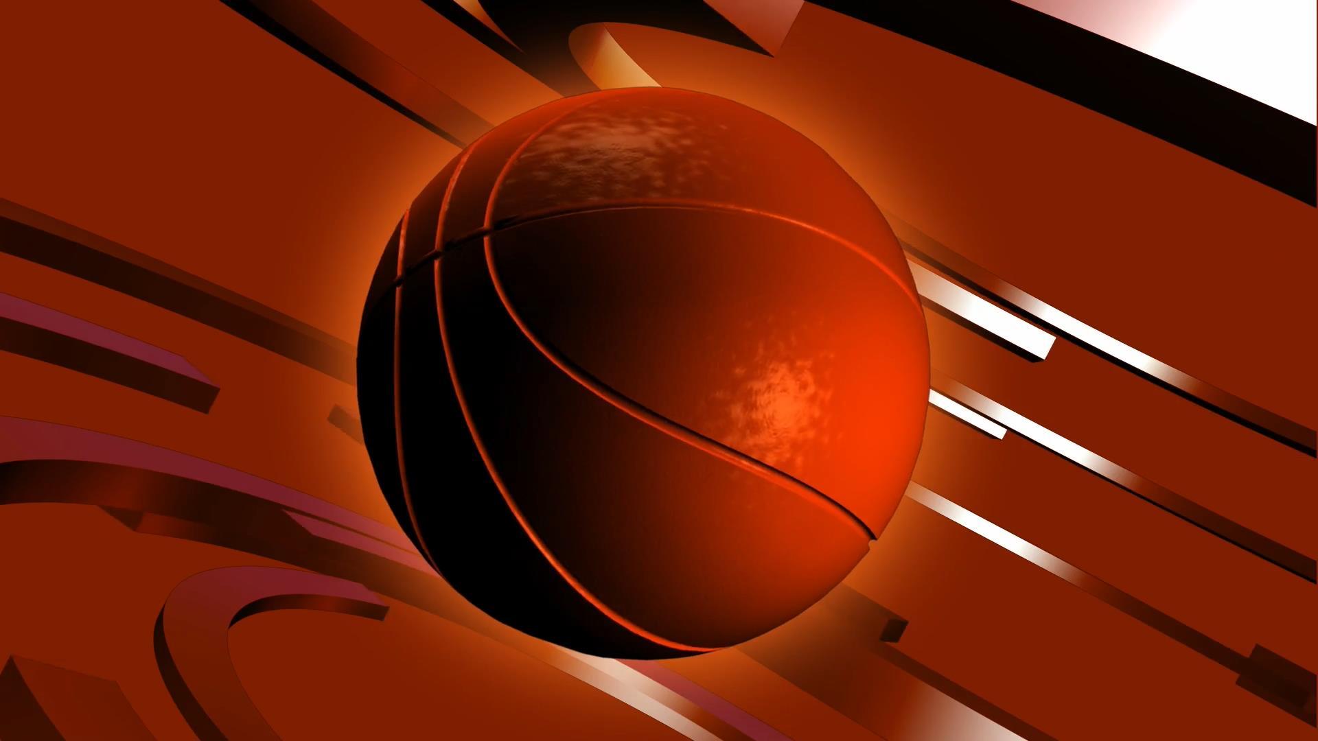 3D篮球转动背景