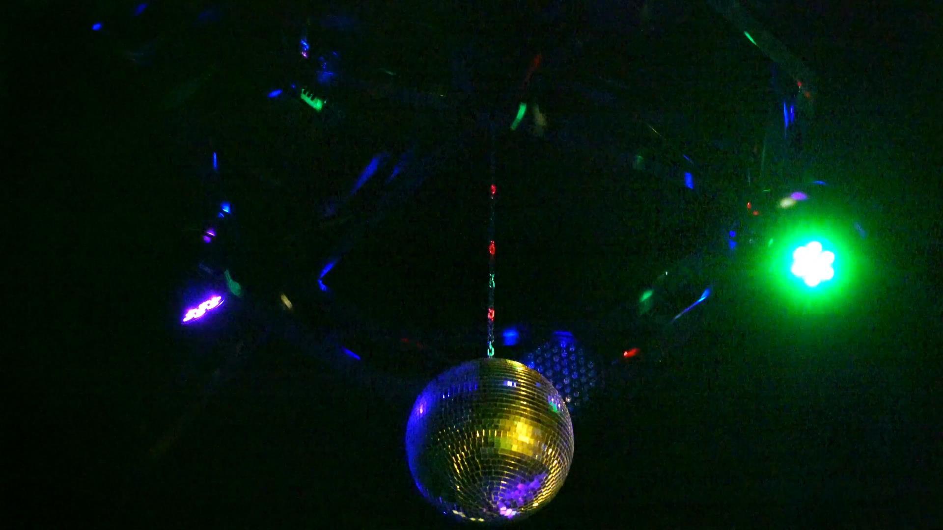 迪斯科灯光闪烁