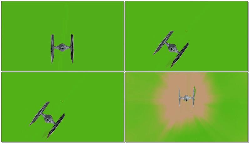 绿屏抠像攻击外星战机