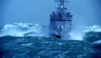 乘风破浪高清实拍视频素材 军舰搏击风浪拼搏前进\(1\)