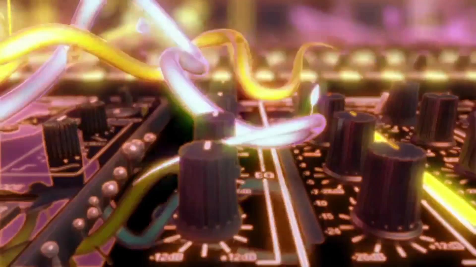 三维动感节奏CD碟机藤蔓生长LED动态背景视频素材
