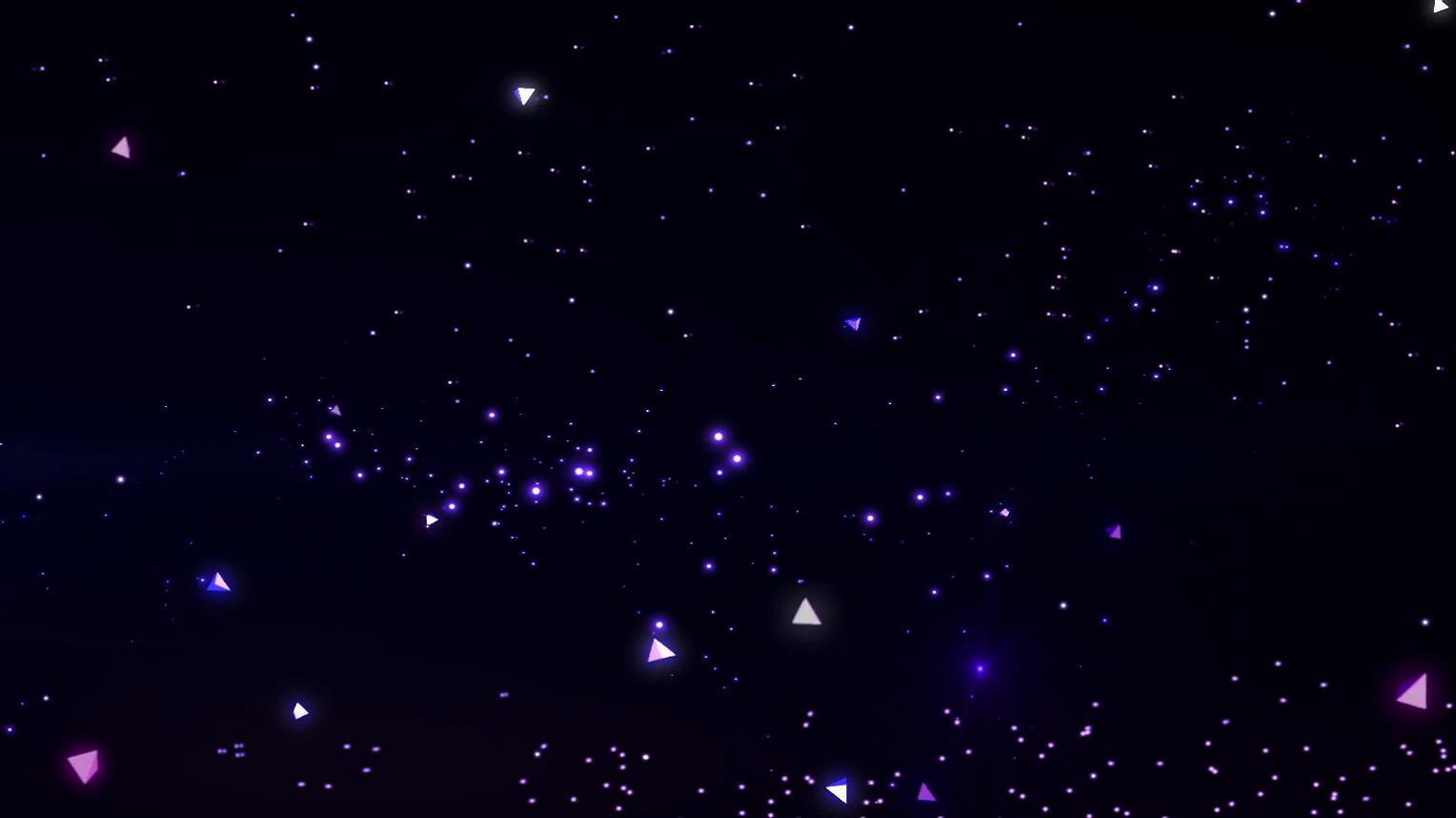 闪亮3D场景星空粒子汇聚形成圆形变化宇宙太空背景视频素材
