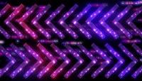 华丽大气电子闪烁箭头阵列走屏LED背景视频素材
