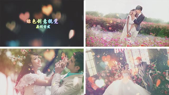 premiere浪漫婚礼电子相册模板绯色视觉原创首发