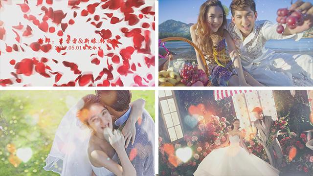 会会浪漫婚礼电子相册模板绯色视觉原创首发