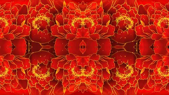 红色喜庆中国红蝴蝶飞舞