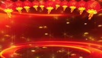 红灯笼新年晚会舞台背景视频