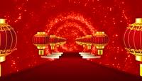 灯笼红地毯喜庆节日舞台背景