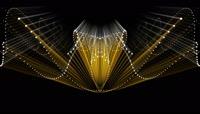 金色流光风格动感电音舞曲酒吧夜场演艺表演开场转场背景
