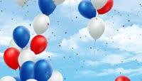 卡通风格国庆庆典气球背景