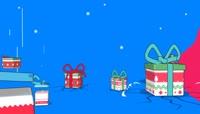 卡通风格创意欢快节奏圣诞快乐礼物喜庆背景