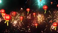 中国红春节喜庆灯笼背景