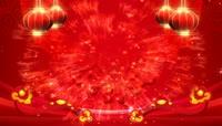 喜庆灯笼如意粒子红色晚会背景