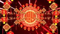 中国红流光风格元旦春节喜庆素材