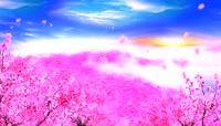 牡丹花开流光风格大气背景