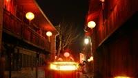 中国红流光风格元宵灯笼喜庆背景