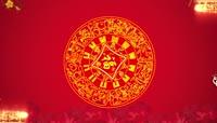 红色喜庆祝寿片头