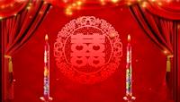 中式婚礼喜庆红色背景庆典