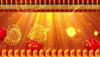 大气福字喜庆中国红流光风格晚会歌舞演出开场转场背景