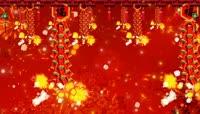 恭喜发财鞭炮齐鸣喜庆中国红流光风格晚会歌舞演出背景转场素材