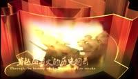 中国红正能量革命历史沧桑背景