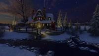 动态唯美背景视频圣诞小屋