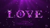 紫色流光风格love爱心表白浪漫背景