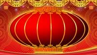 流光风格中国红春晚大红灯笼喜庆背景