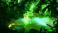 梦幻森林环保绿流光风格场景