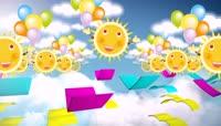六一儿童节卡通太阳可爱背景