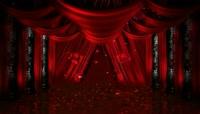 中式婚礼喜庆红色背景庆典1