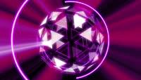 紫色流光风格宇宙球灯酒吧夜场舞台表演转场开场背景