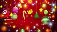 喜庆圣诞礼物灯光流光风格演出节日祝福开场转场背景