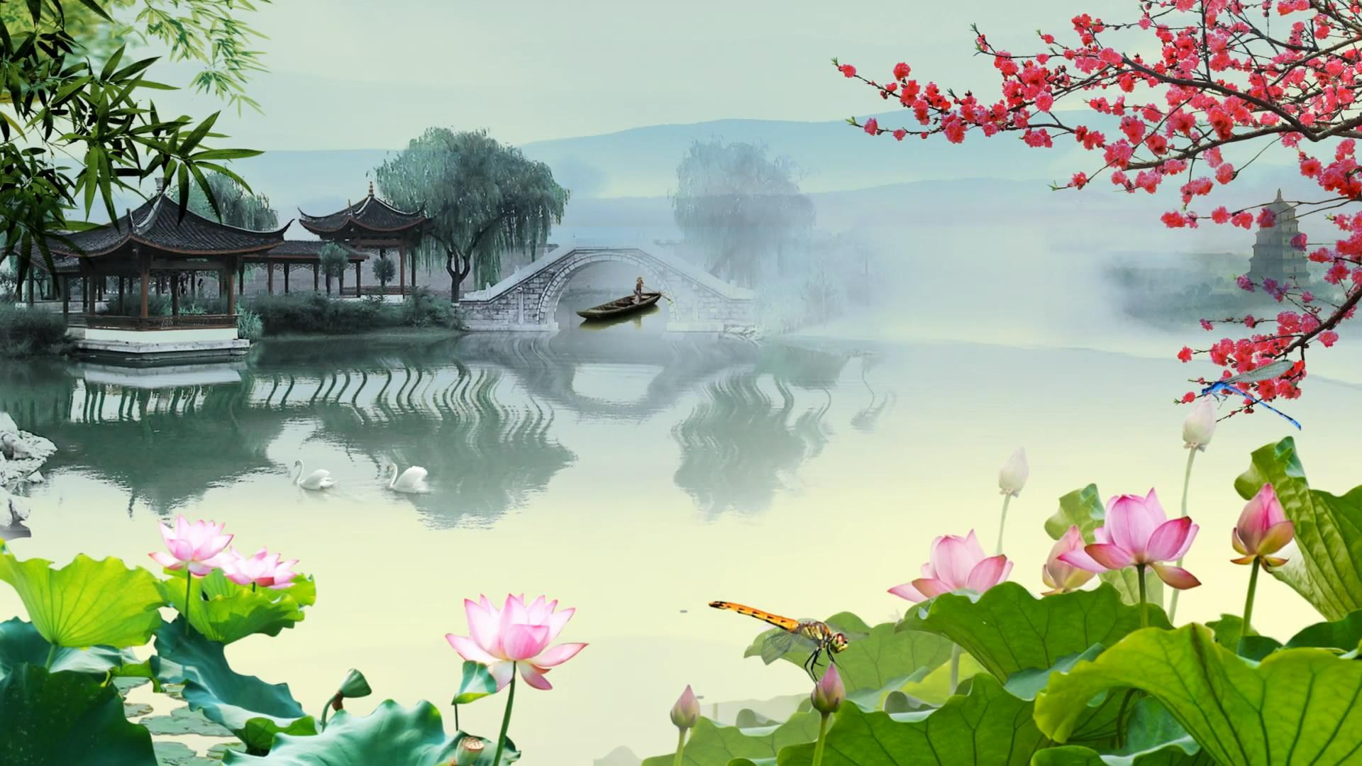 江南水乡中国风背景
