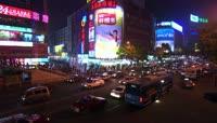 城市夜景交通车流