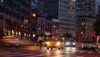 国外繁华城市夜景街道密集人流车流高清视频延时实拍