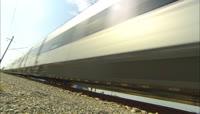 火车快速行驶高清实拍视频素材