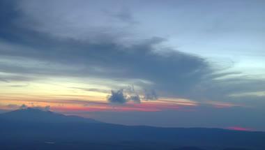 夕阳下的天空自然风光