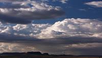 云层快速流动