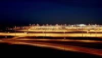 城市夜景灯光车流高清实拍视频素材