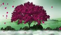 大气唯美炫丽的高清三维大树梦幻舞台背景