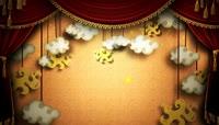 红幕舞台云朵动态