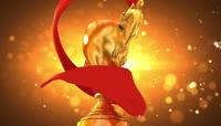 2015企业年会金杯奖杯红丝绸通用颁奖典礼