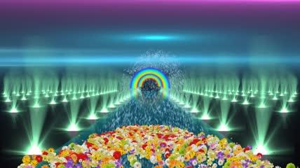 流光风格彩虹花径唯美背景