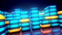 流光风格3D音乐均衡器跳动炫酷背景