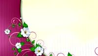 素雅现代花卉绽放流动唯美背景