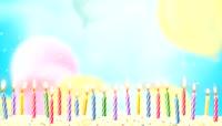 卡通风格生日蜡烛可爱背景