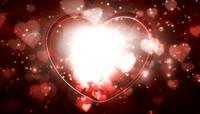粒子风格爱心光束唯美背景